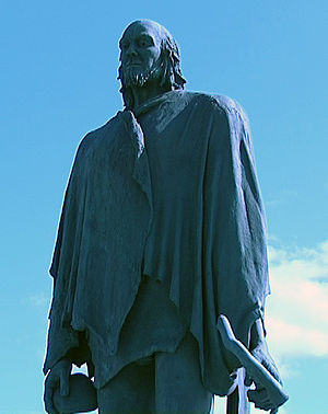 Mechta-Afalou - The statue of Bencomo, the ruler of Guanches, at Tenerife
