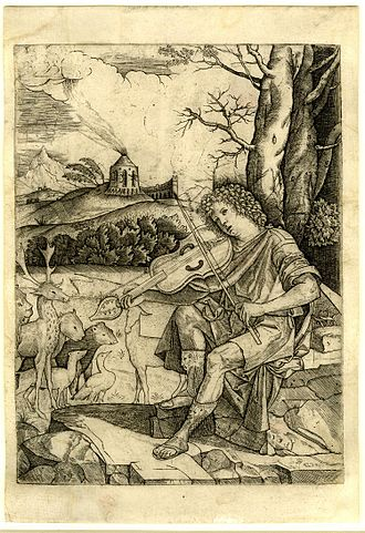 Benedetto Montagna - Engraving of Orpheus
