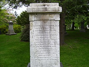 Benjamin Waterhouse - Waterhouse's grave in Mount Auburn Cemetery