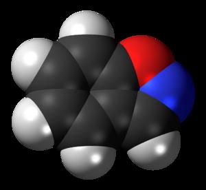 Benzisoxazole - Image: Benzisoxazole 3D spacefill inverted