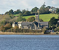 Bere Ferrers church from Blaxton Quay.jpg