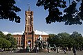 Berlin- The Rotes Rathaus with the Neptunbrunnen in front - 2752.jpg