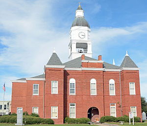 National Register of Historic Places listings in Berrien County, Georgia - Image: Berrien County courthouse, south side, Nashville, GA, US