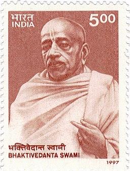 Bhaktivedanta Swami Prabhupada 1997 stamp of India