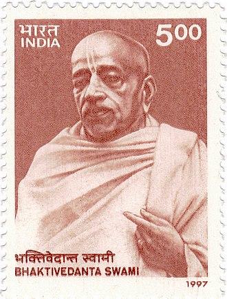 A. C. Bhaktivedanta Swami Prabhupada - Bhaktivedānta Swāmi, 1997 postage stamp
