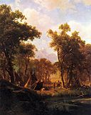 Bierstadt Albert Indian Encampment Shoshone Village.jpg