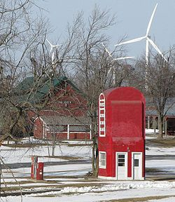 Big Pump and wind farm in the Tri-County Historical Park