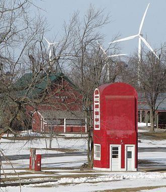 King City, Missouri - Big Pump and wind farm in the Tri-County Historical Park