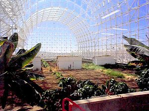 Biosphere 2 near Tucson, Arizona, USA.
