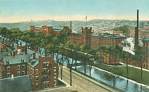 Lewiston, Maine - Bates Mill and canal c. 1915