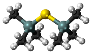 Bis(trimethylsilyl)sulfide - Image: Bis(trimethylsilyl)s ulfide 3D balls
