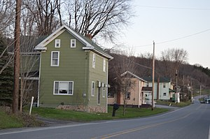 Beccaria Township, Clearfield County, Pennsylvania - Along Pennsylvania Route 53 at Blain City