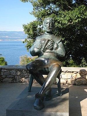 Blaž Baromić - Statue of Blaž Baromić in Vrbnik, Croatia