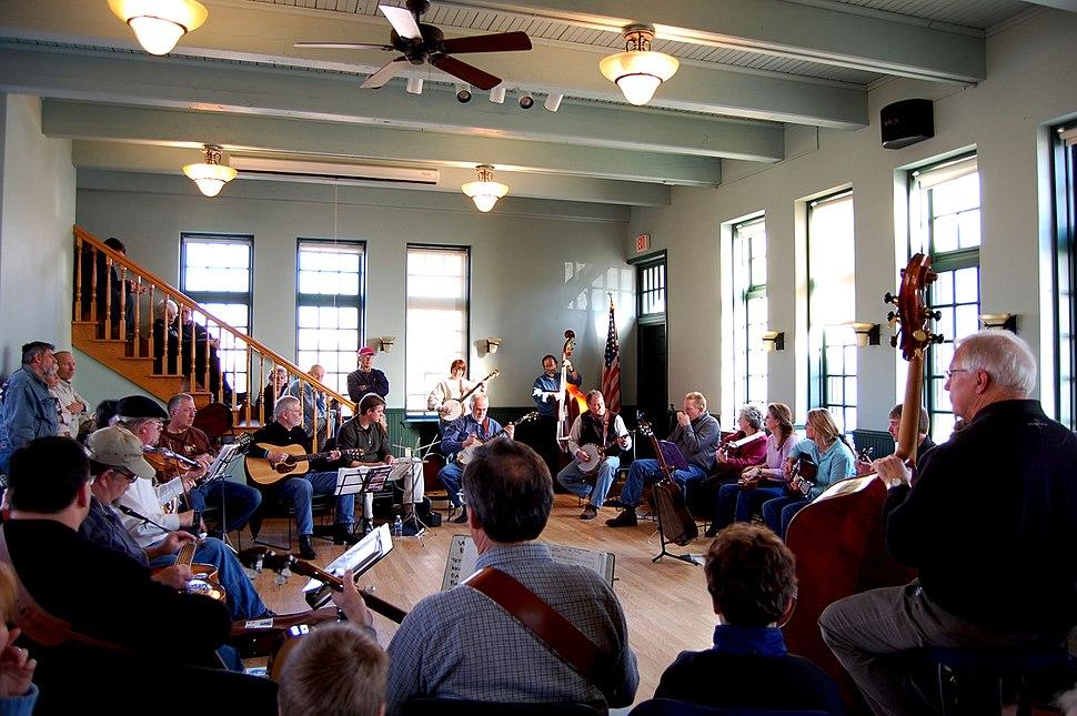 Bluegrass Music Jam Delafield Fish Hatchery Wisconsin February 2009
