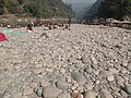 Boats, Mountains, Transparent Water, Working Man and Woman, Shops, Sands near Piyain River, Jaflong, Tamabil, Sylhet 04.jpg