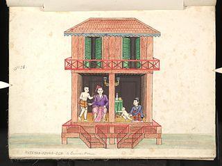 Matayah-koung-elm. A Burmese house