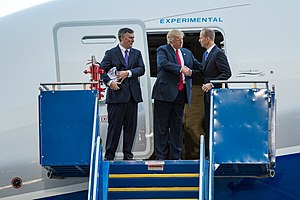 Dennis Muilenburg - At the 787-10 rollout with Donald Trump