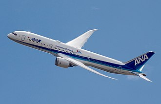 Boeing 787 Dreamliner - A Boeing 787-9, the midsize variant, of All Nippon Airways, the first and largest 787 operator