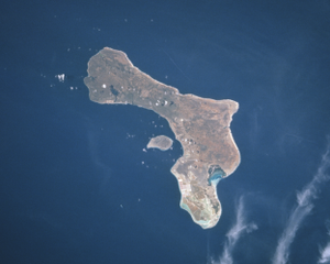 Klein Bonaire - Klein Bonaire is the roundish islet in the center of the picture, nestled in the crescent of Bonaire.
