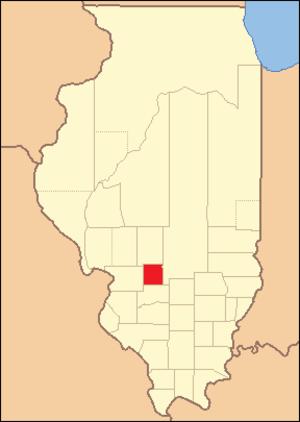 Bond County, Illinois - Image: Bond County 1824