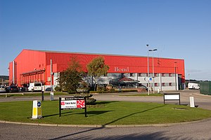 Babcock Mission Critical Services Offshore - Bond's main hangar at Aberdeen Airport