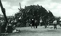 Aftermath of the Aggie Bonfire collapse