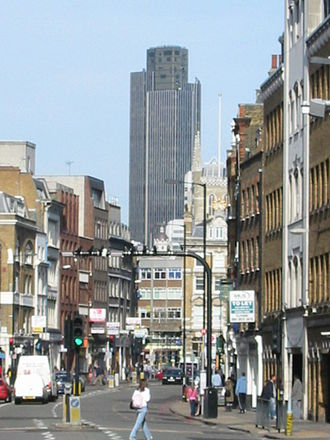Borough High Street - Borough High Street with Tower 42 in the background (2007)
