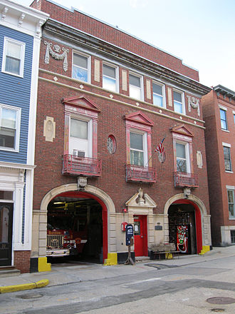 Boston Fire Department - The quarters of Engine Co. 50 on Winthrop St. in Charlestown.