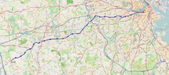 2013 Boston Marathon - Course map