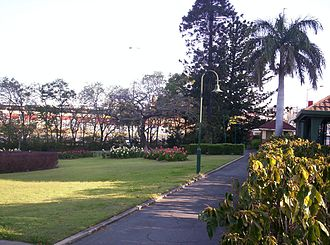 Bowen Park, Brisbane - Pathway to the toilets, 2005