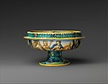 Bowl from a birth set with birth scene and Diana and Actaeon MET DP319672.jpg
