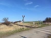 Brüel Bahnstrecke Wismar-Karow Bahnübergang 2014-03-11 9.JPG