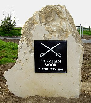 Bramham, West Yorkshire - Memorial Stone at the site of the Battle of Bramham Moor, which took place in 1408.