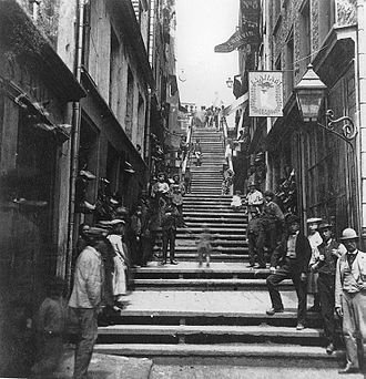 Petit Champlain - Breakneck Steps, 1870