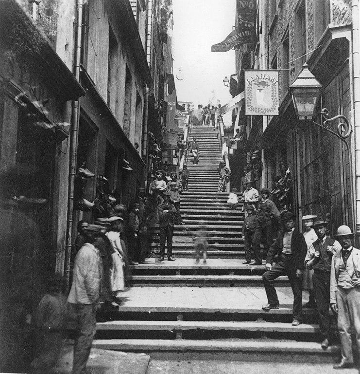 Breakneck Steps, Quebec City, 1870
