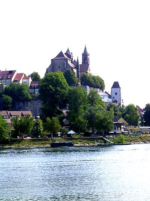Breisach - Breisach as seen from the French Rhine shore.