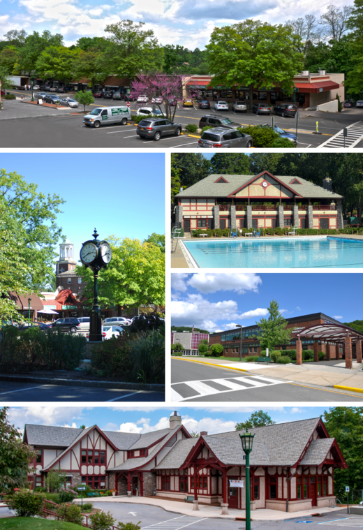 Clockwise from top the village center village pool at law memorial park briarcliff high school briarcliff manor public library village clock and