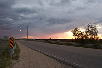 Red River Floodway - Bridge over the control gates