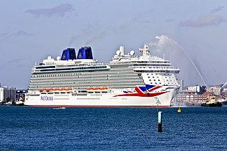 MV Britannia (2015) - Image: Britannia arrival 1