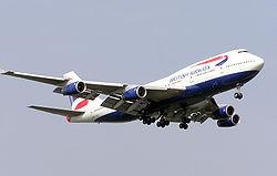 Boeing 747-400 společnosti British Airways