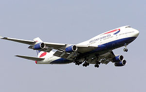 English: British Airways Boeing 747-400 (G-BNL...