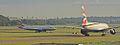 British Airways Boeing 777-200 G-VIIN & Airbus A320 G-TTOB (15406669580).jpg