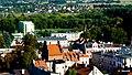 Brodnica, Polska . Widok miasta z wieży zamkowej. Na wprost widoczna Brama Chełmińska - panoramio.jpg