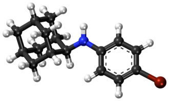 Bromantane - Image: Bromantane ball and stick model