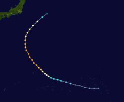 超强台风博罗依的路径图