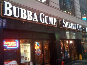 Bubba Gump Shrimp Company - The Bubba Gump Shrimp Co. restaurant in Times Square, New York City.