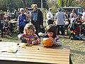 Bucuresti, Romania. Pumpkin Fest. Primul Festival de Halloween din Romania. Oct. 2019. Copii creind opere de arta. DSCN9731.jpg