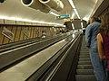 Budapešť, Deák Ferenc tér, eskalátor metra II.JPG