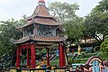 Buddha within Chinese pavilion, Haw Par Villa (14793949485).jpg