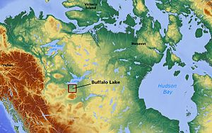 Buffalo Lake (Northwest Territories) - Image: Buffalo Lake (Northwest Territories) Canada locator 01